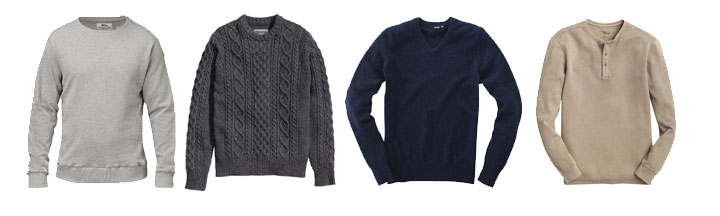 men's wardrobe essentials sweaters