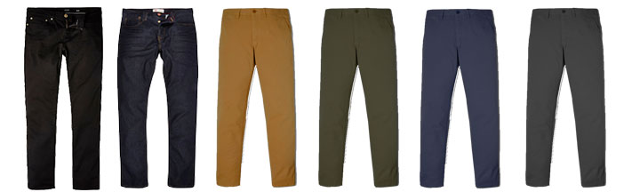 men's wardrobe essentials pants