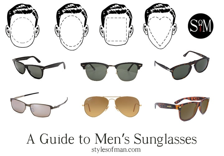 men's sunglasses guide face shape