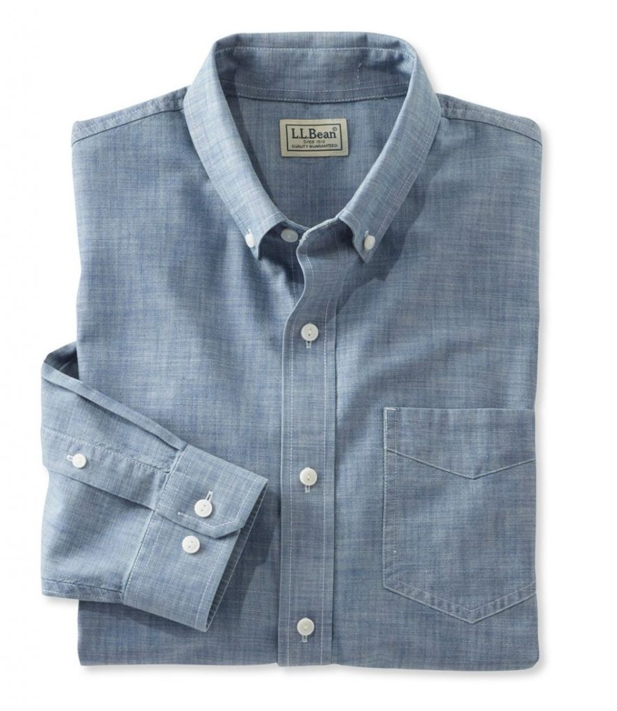 men's spring fashion chambray shirt