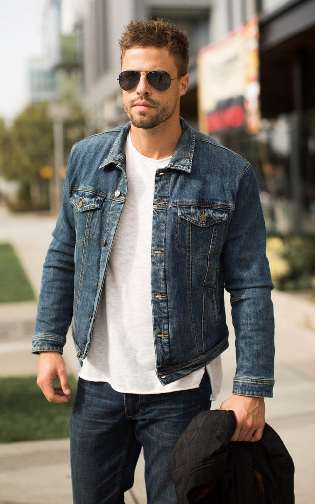 men's spring fashion denim jacket