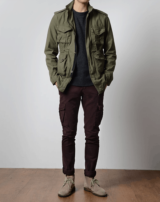 men's spring fashion field jacket