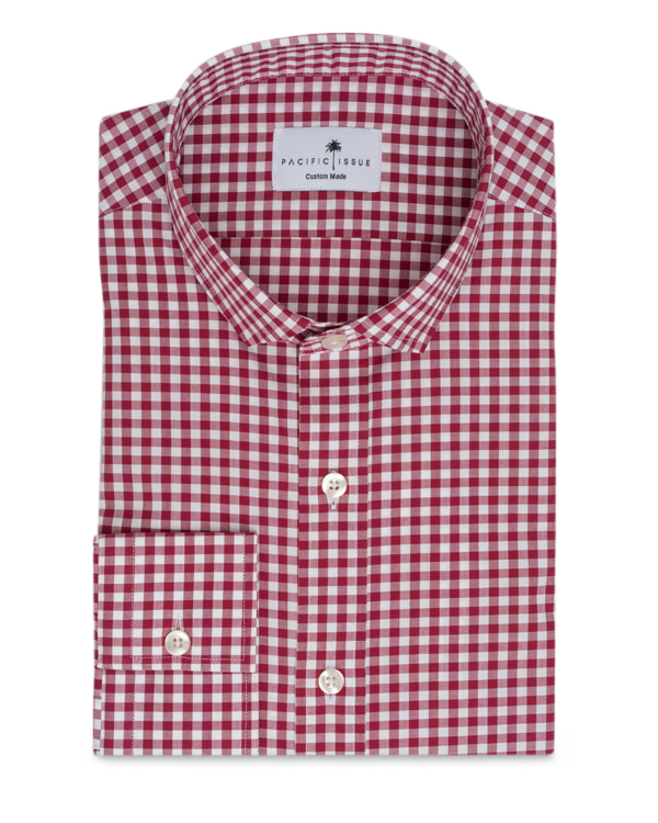 men's spring fashion gingham shirt