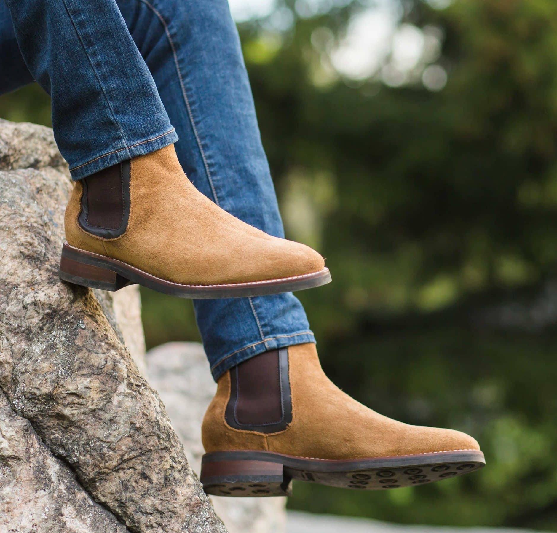 men's spring fashion suede chelsea boots