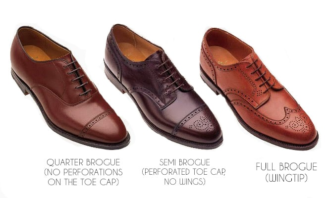 types of brogues shoe