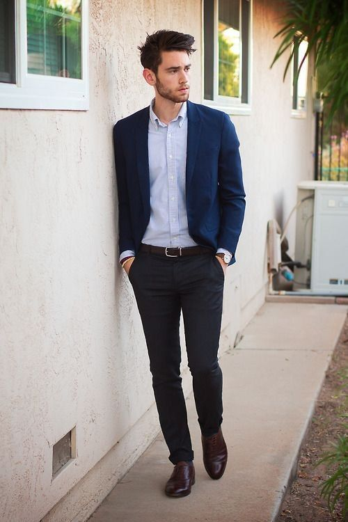 business casual men with blazer