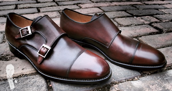 double monk strap shoe business casual