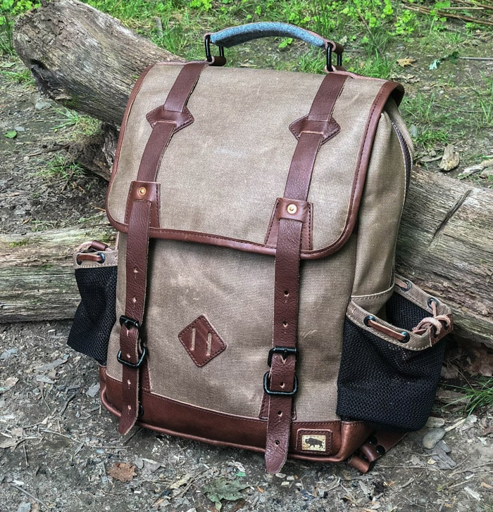 Front view of the buffalo jackson dakota backpack