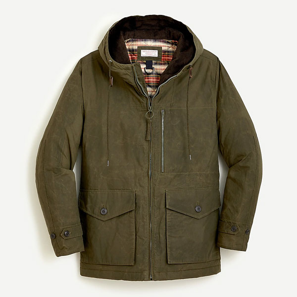 j crew waxed fisherman jacket