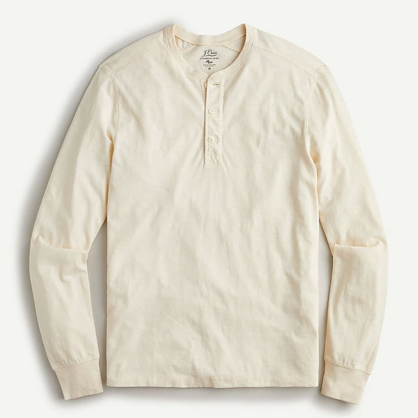 off white colored henley shirt