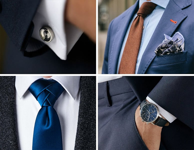 cocktail attire for men accessories ties cufflinks watch