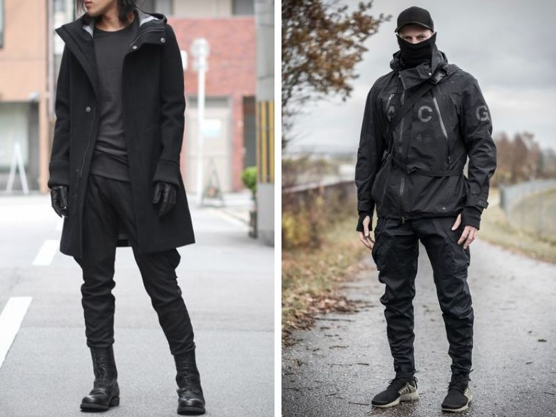 Urban Techwear Clothing Outfits