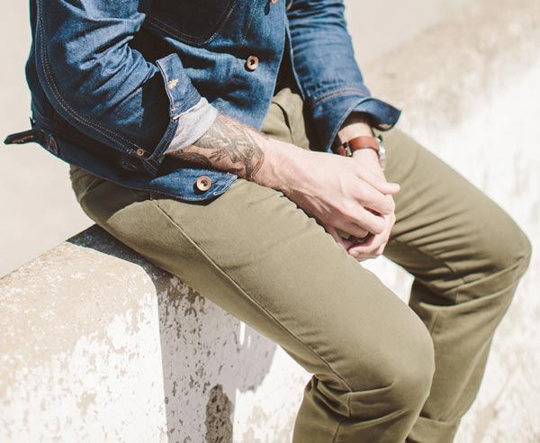 men's olive summer chinos