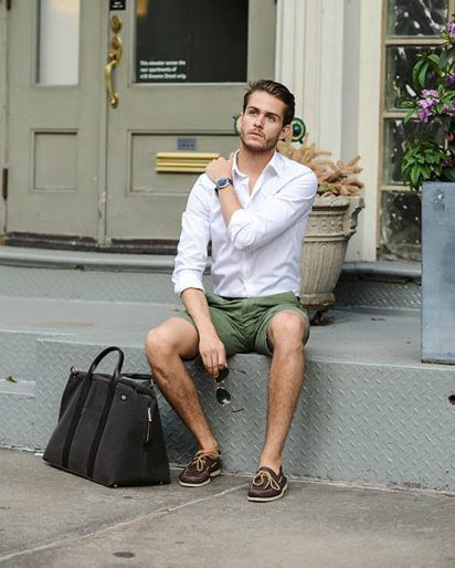 men's summer fashion shorts outfit