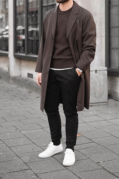 smart casual outfit sneakers