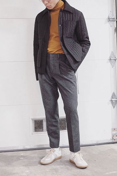 men's smart casual wool pants