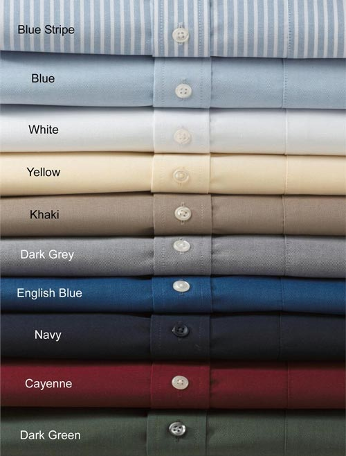 different colors of dress shirts