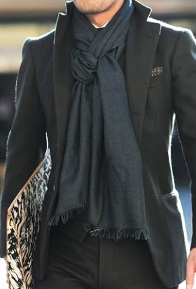 four in hand scartf knot outfit