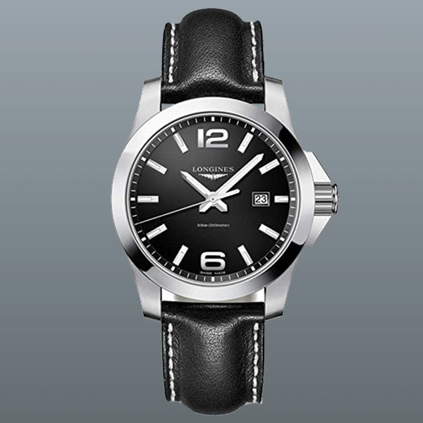 men's Longines Conquest Steel watch