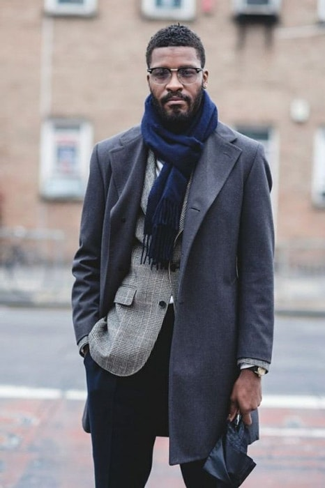 men's winter Parisian knot scarf