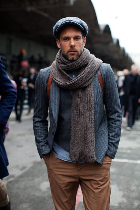 men's draped scarf