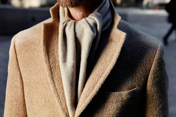 overhand scarf knot outfit