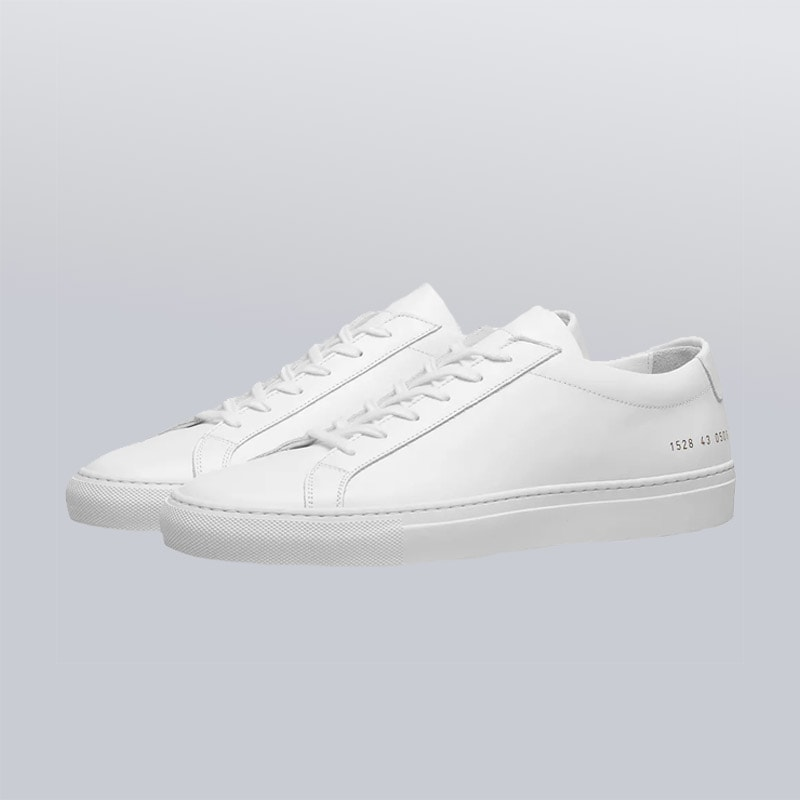 men's minimalist white sneakers