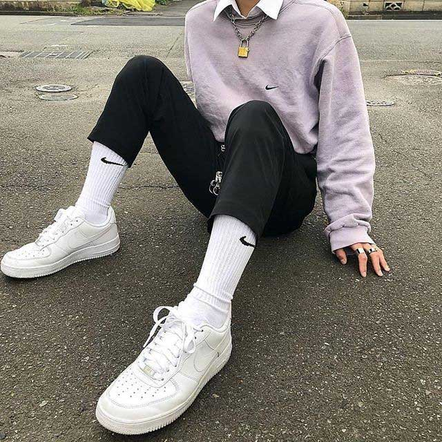 eboy outfit with white sneakers