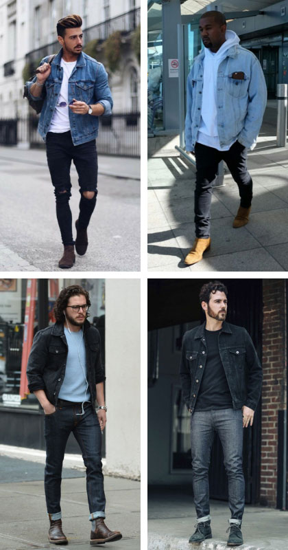 jean denim jacket outfits for men