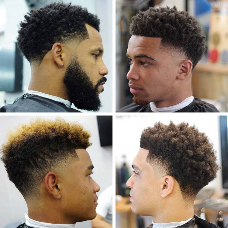 black man temp fade haircut