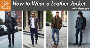 leather jacket outfits for men