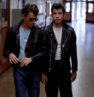 Leather jacket from Grease