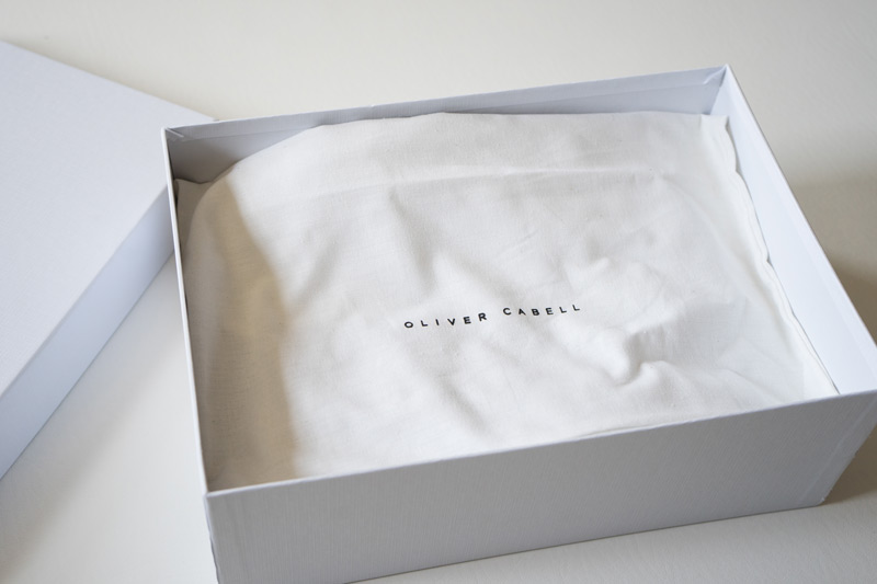 shoe box with carrying cloth