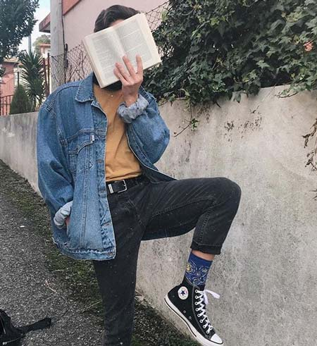 soft boy reading a book